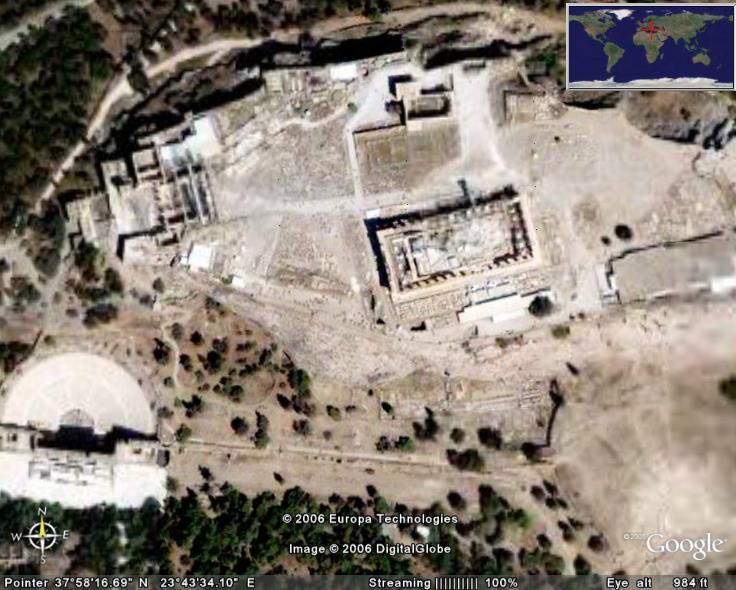 Acropolis In Google Earth Google Earth Cool Places