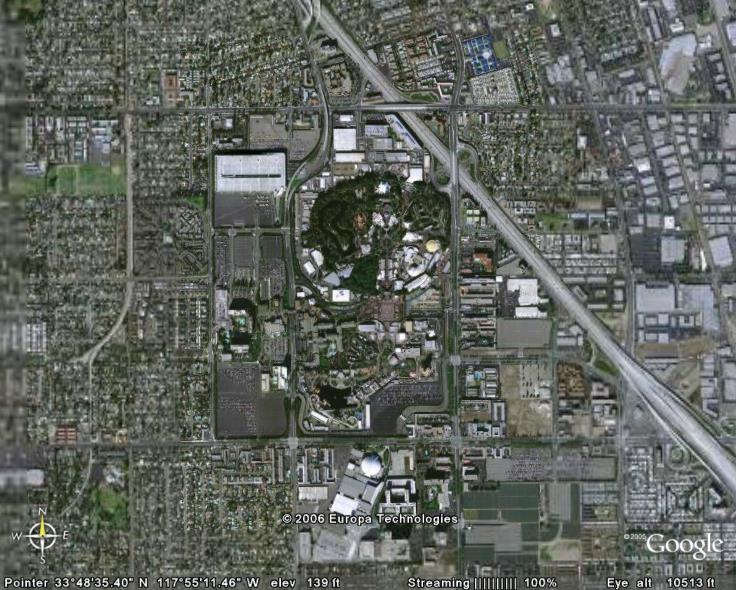 Disneyland In Google Earth Google Earth Cool Places