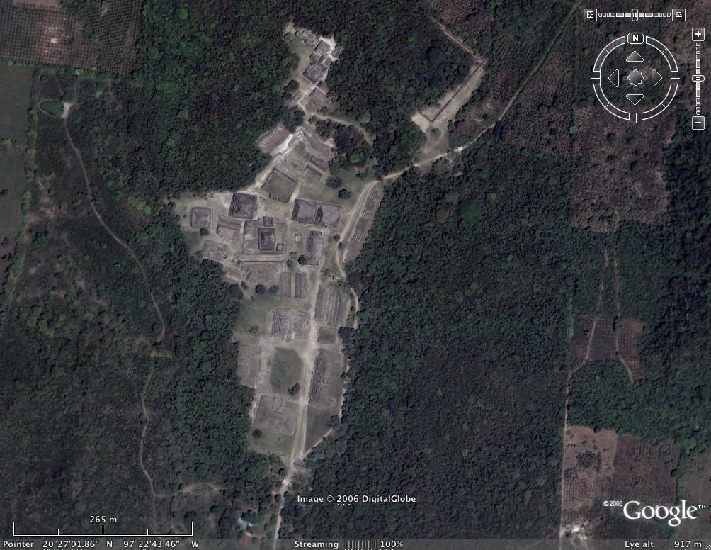 Pyramids Of El Tajin In Google Earth Google Earth Cool Places