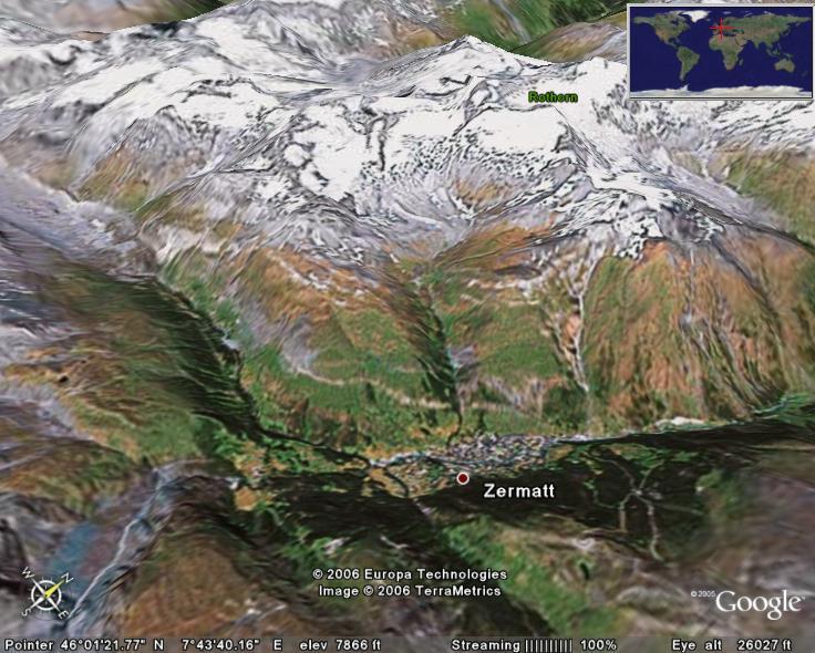 Matterhorn In Google Earth Google Earth Cool Places