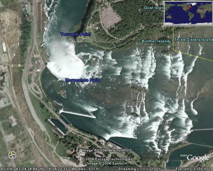Niagara Falls In Google Earth Google Earth Cool Places