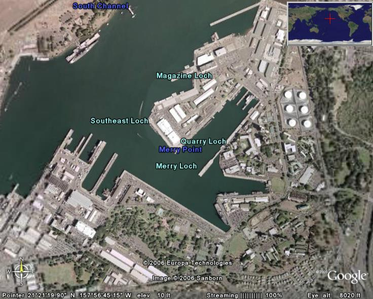 Pearl Harbor in Google Earth - Google Earth Cool Places