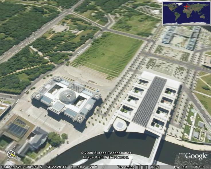 Reichstag In Google Earth Google Earth Cool Places
