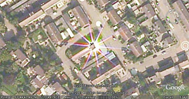 Solar reflection in Google Earth - Google Earth Cool Places