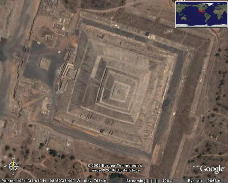 Teotihuacan In Google Earth Google Earth Cool Places